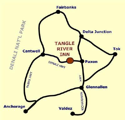 20 Mile River Alaska Map.Tangle River Inn Mile 20 On The Denali Highway